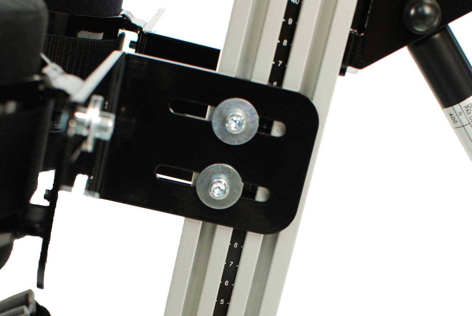 Measure tape on upright extrusion